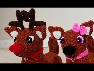 Crochet Adorable Amigurumi Reindeer Part 1 of 3 DIY Video Tutorial