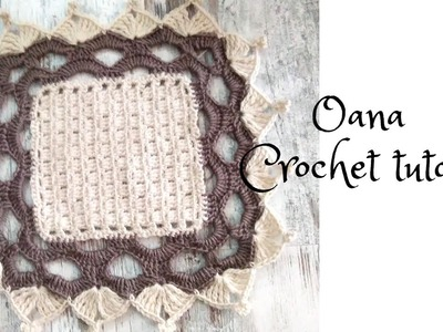 Crochet blanket with lovely border by Oana