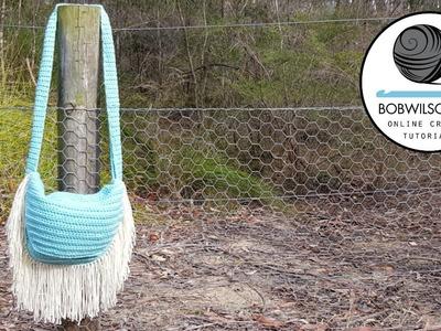 Crochet Fringed Bag Tutorial