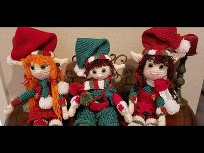 Crochet Heirloom Christmas Girl and Boy Elf Part 1
