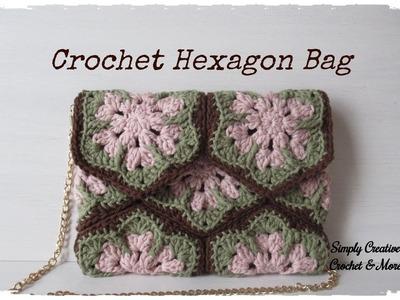 Crochet Hexagon Clutch Bag