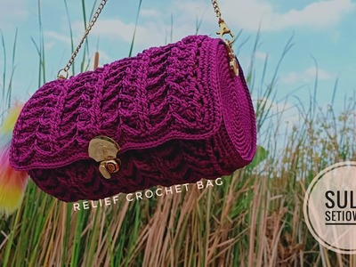 Crochet || relief crochet bag