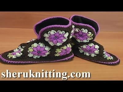 Crochet Slippers For Home Tutorial 49