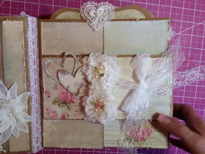 Custom 8x8 Wedding Mini Album for SaCrafters