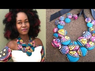 DIY Ankara-Cover Button Necklace (Part 2)-African print