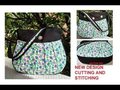 DIY cutting stitching of handmade handbag in hindi.purse making.shopping bag.travel bag