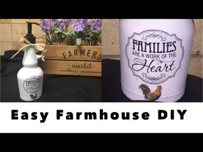 DIY Easy Dollar Tree Farmhouse Soap Pump