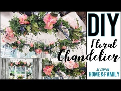 DIY: How to Make a GORGEOUS Floral Chandelier!!