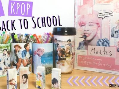 DIY KPOP BACK 2 SCHOOL SUPPLIES!!! (Notebook, Erasers.  etc). KB2S Collab