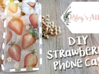 DIY丨手作滴膠押草莓手機殼丨Handmade Strawberry Phone Case ✿