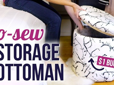 DIY No-Sew Storage Ottoman - HGTV Handmade
