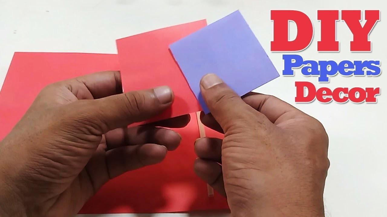 DIY Paper Craft Wall Decor | DIY Wall Decor Idea With Paper | Paper Crafts
