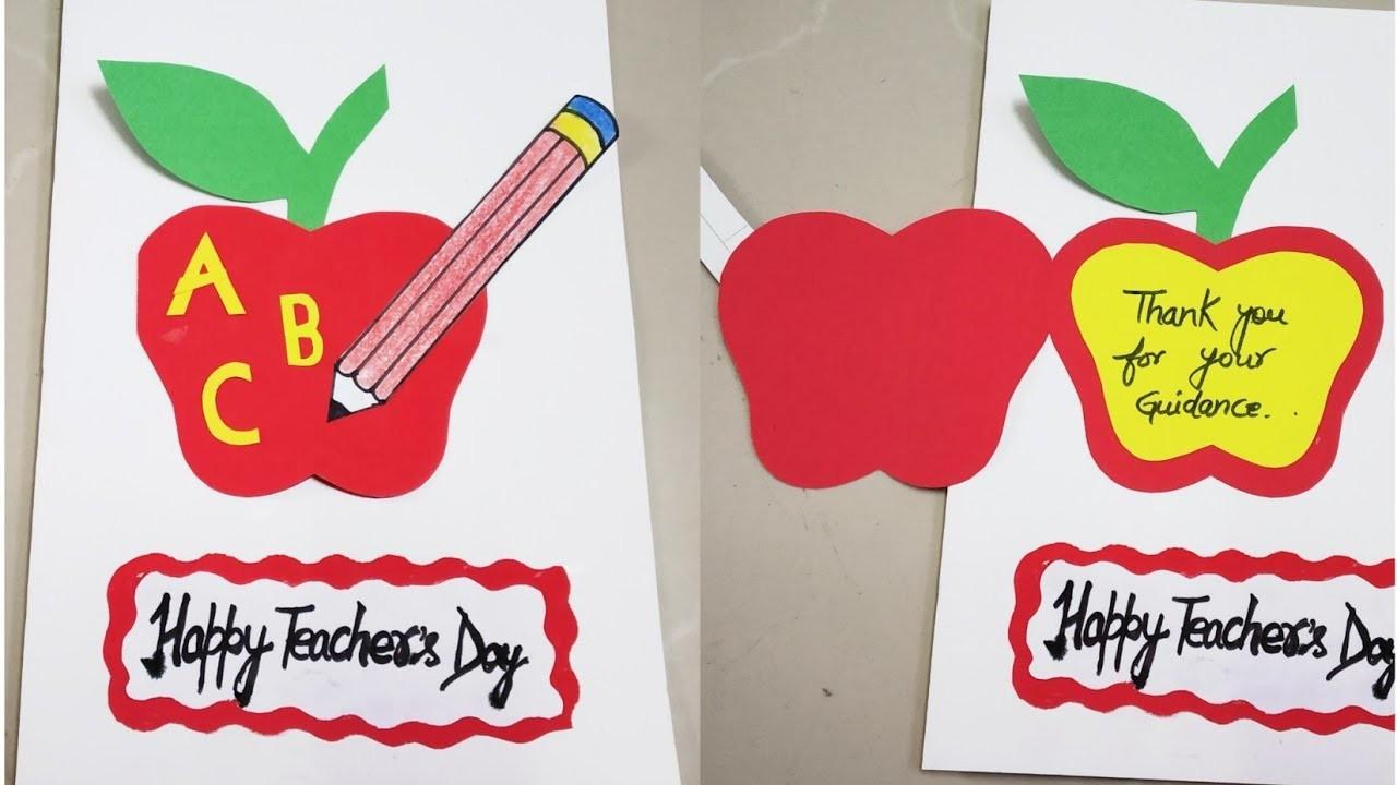 diy teachers day cardeasy teachers day card making