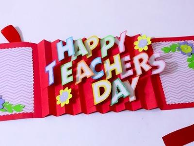 DIY Teacher's Day card   Handmade Teachers day card making idea   3D Pop Up Card   Artsy Madhu 31