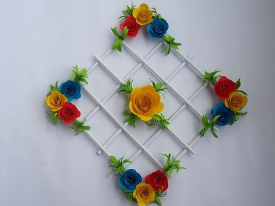 DIY: Wall Decoration Idea!!! How to Make Beautiful Flower Hanging for Room Decoration!!!