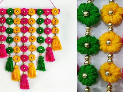 DIY wall Hanging out of Wool.Home Decoration Idea