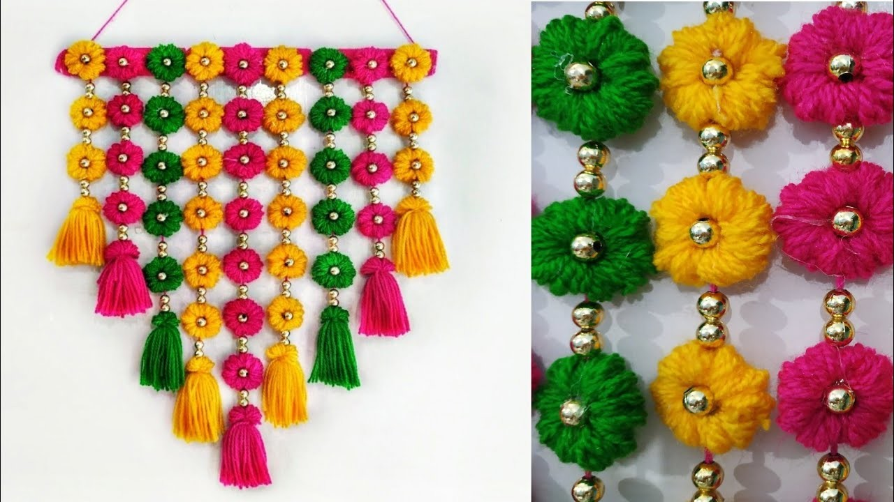 Diy Wall Hanging Out Of Wool Home Decoration Idea
