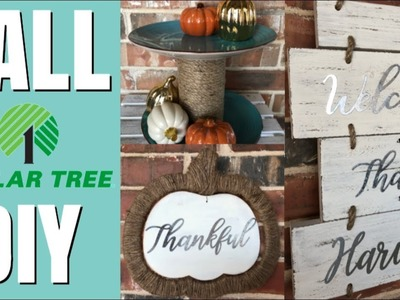 DOLLAR TREE FALL DIY | FARMHOUSE DECOR