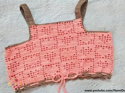 Easy Crochet for Summer: Crochet Crop Top #20