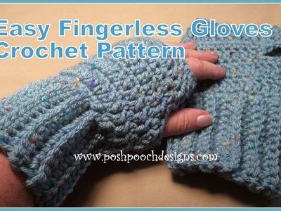 Easy Fingerless Gloves Crochet Pattern