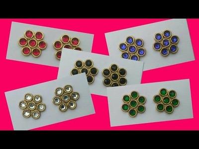 Flower Stud Earrings Making At Home | Earrings For Daily Use | Simple & Attractive Stud Earrings DIY