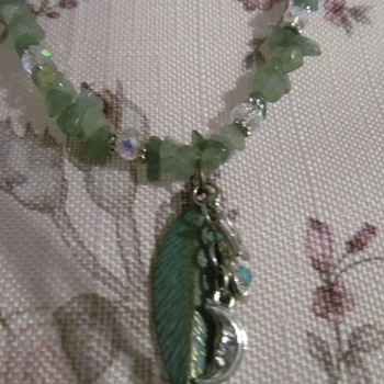 Hand made green Amazonite chip Bead Necklace