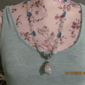 wire wrap pendant Necklace