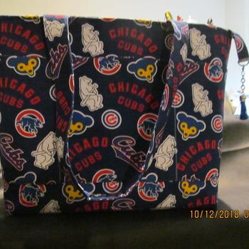 Hand made Chicago CUBS Tote Bag