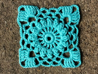 How To Crochet Easy Square Motif Part 1 of 2