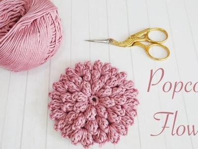 How to crochet flowers: Popcorn Stitch Flower