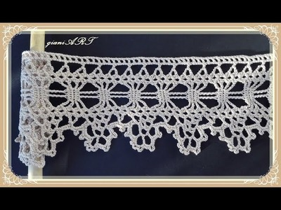 How to Crochet Lace Tape Border for CURTAIN step by step