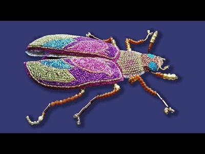 How to embroider a goldwork 'tulip' beetle
