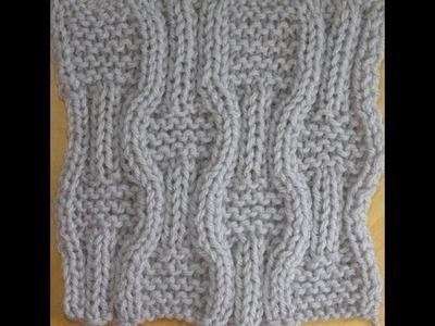 How to knit wavy basketweave stitch