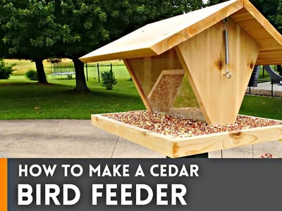 How to Make a Bird Feeder. Woodworking