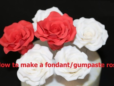 How to make a fondant rose
