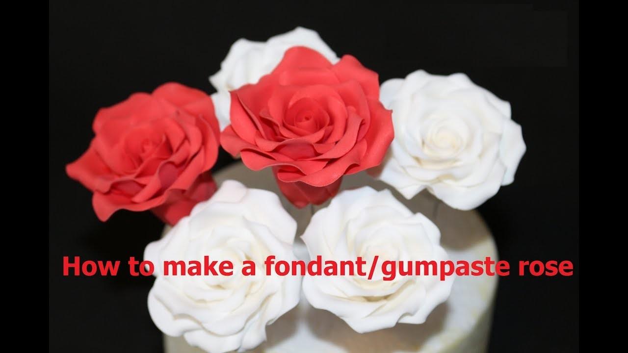 How to make a fondant rose
