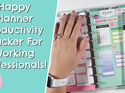 How-To Make A Happy Planner Productivity Tracker For Working Professionals
