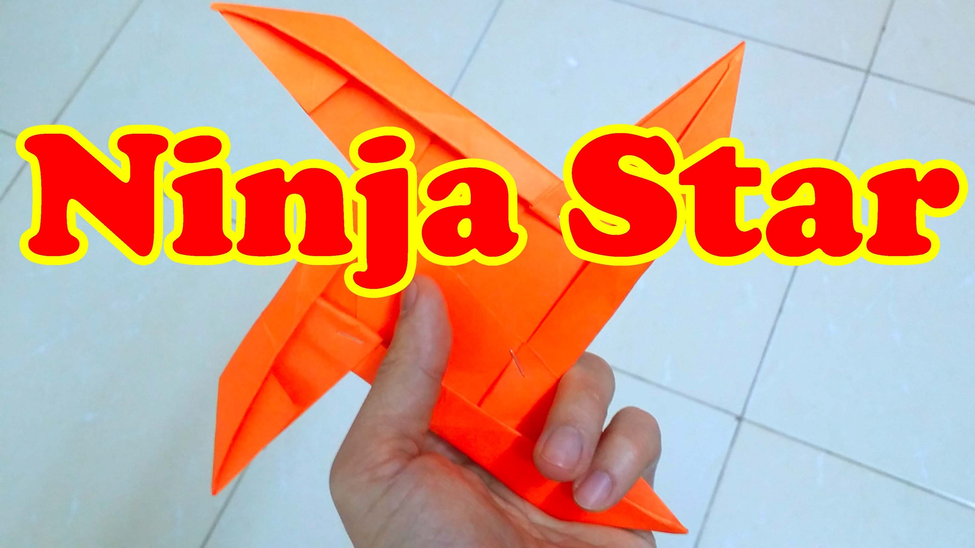 How To Make a Paper Ninja Star 4 Pointed | Origami