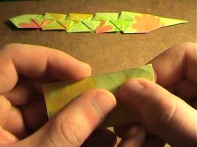 How to make an origami moving lizard 2.2- Come fare una lucerola snodabile 2.2