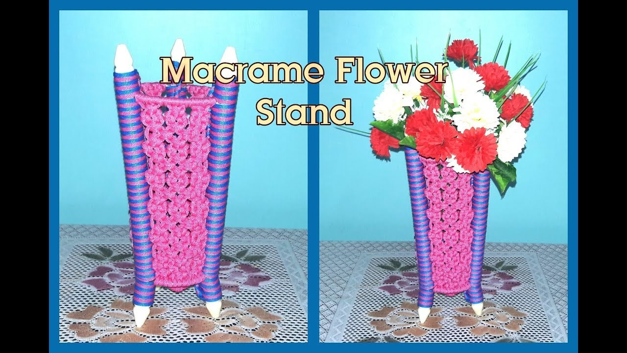 How To Make Macrame Flower Stand (New)