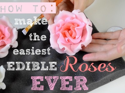 How to make the Easiest Edible Roses EVER! - Bake & Deco Warehouse