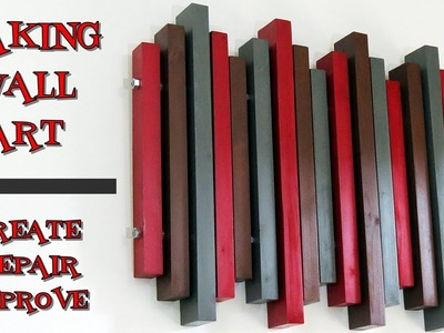 How to Make Wood Wall Art From 2x4s