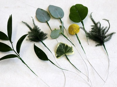 How To Wire Leaves For Corsage And Bridal Work