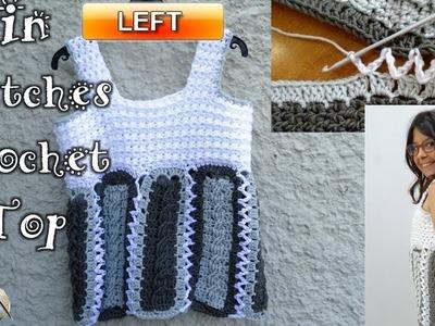 In Stitches Crochet Top - Left Handed Crochet Tutorial