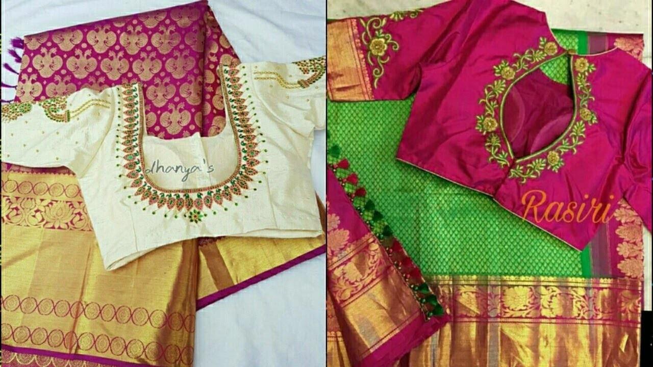 35e3ccc32a589 Latest Bridal blouse designs with saree