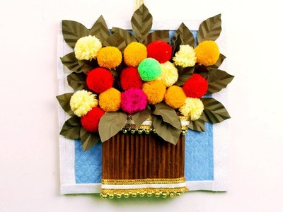 Latest Wall hanging Design - WOOLEN CRAFT - Easy DIY Craft - DIY Home Decor
