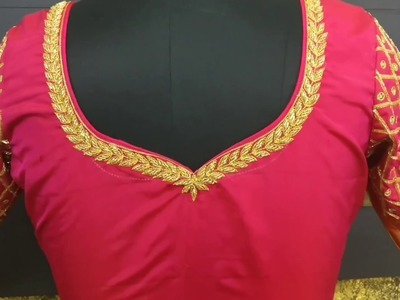 Making of Embroidery - Designer Saree Blouse #051