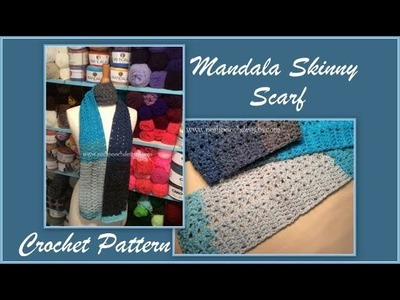 Mandala Skinny Scarf Crochet Pattern