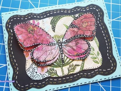 Napkin Card Series Part 5 of 5 | Butterfly Card