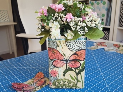 Napkin Series Part 4 of 5 | Upcycled Goodwill Vase